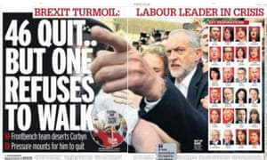 The Daily Mirror's take on the Corbyn crisis.