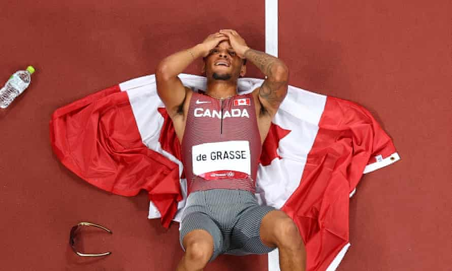 Canada's Andre De Grasse ends wait for Olympic gold in men's 200m | Tokyo Olympic Games 2020 | The Guardian