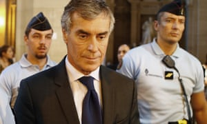 Jérôme Cahuzac  leaves court in Paris during his hearing