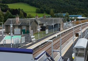 Stow station on the newly completed Borders rail line.
