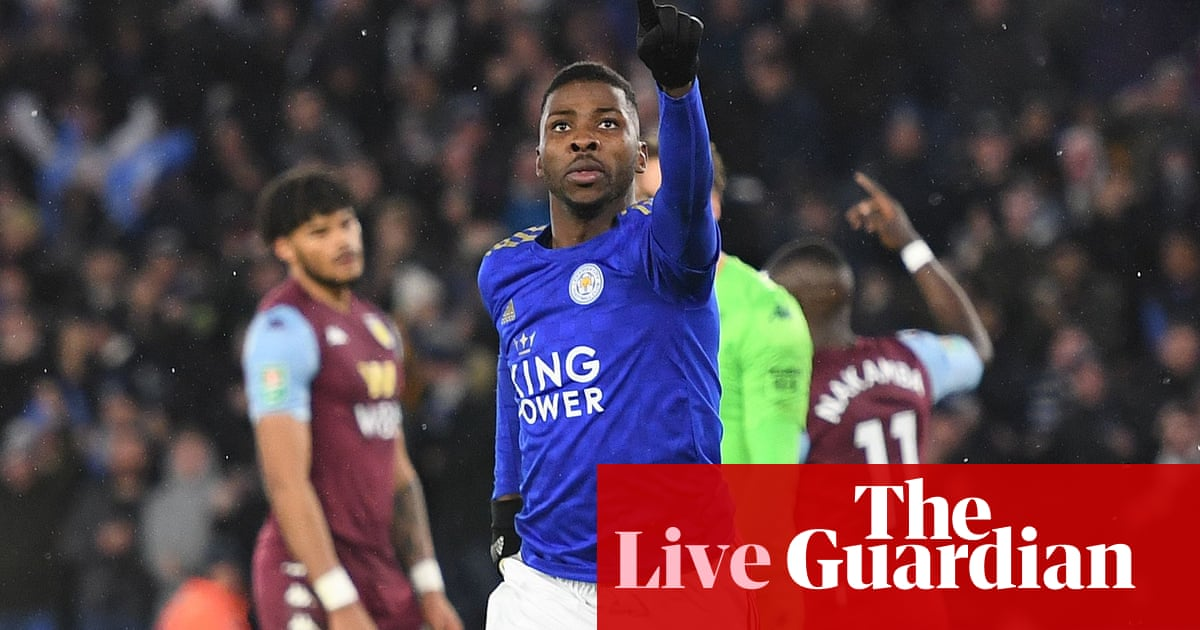 Leicester City 1-1 Aston Villa: Carabao Cup semi-final, first leg – live!