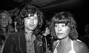 Jimmy Page Pamela Des Barres in 1973.