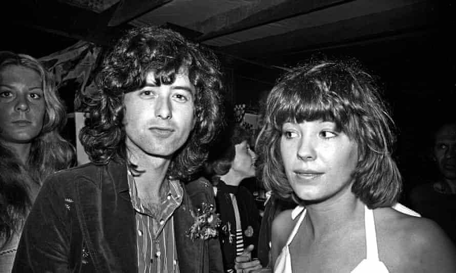 Jimmy Page Pamela Des Barres in 1973.