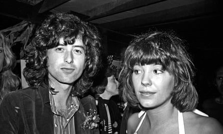 Heavy date: Des Barres in 1973 with Jimmy Page, guitarist of Led Zeppelin.
