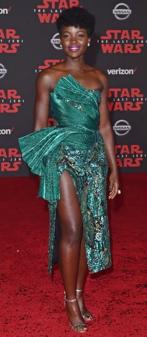 Lupita Nyong'o in Studio-inspired dress in 2017.