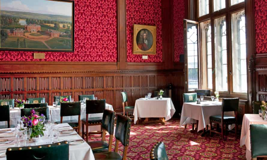 'Classic styling in the form of white tablecloths: Strangers' Dining Room, The House of Commons.