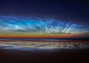 A display of noctilucent clouds over Sunderland.