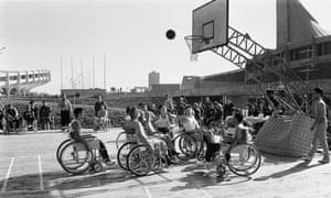 Wheelchair basketball in 1964.