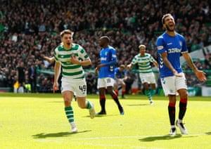 Forrest celebrates scoring the winner.