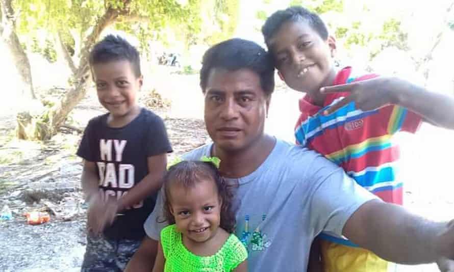 Eritara Aati Kaierua with his children. Eritara Aati Kaierua from Kiribati was killed while he was working as a fisheries observers. Over fishing in the Pacific.