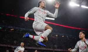 *** BESTPIX *** FC Bayern Muenchen v Liverpool - UEFA Champions League Round of 16: Second Leg<br>MUNICH, GERMANY - MARCH 13: Virgil Van Dijk of FC Liverpool celebrates after scoring his team's second goal  during the UEFA Champions League Round of 16 Second Leg match between FC Bayern Muenchen and Liverpool at Allianz Arena on March 13, 2019 in Munich, Bavaria. (Photo by Boris Streubel/Getty Images) *** BESTPIX ***