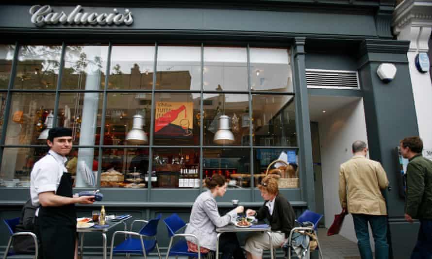 Carluccio's restaurant and delicatessen in Upper Street, Islington London