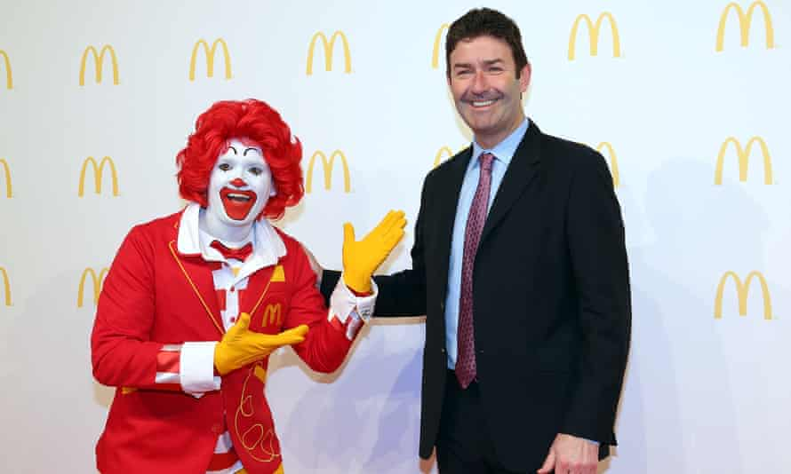 McDonald's boss Steve Easterbrook earned $21.7m last year. The median worker wage at the fast-food giant was $7,017.