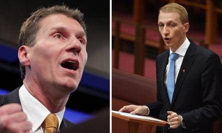 Senator Cory Bernardi (left); Senator James Paterson (right).