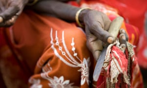 A picture from the UN Children's Fund showing a former practitioner who performed female genital mutilation in Ethiopia.