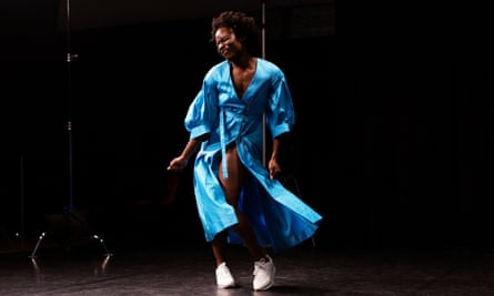 Dancer Valerie Ebuwa in Clod Ensemble and Nu Civilisation Orchestra's version of The Black Saint and the Sinner Lady.