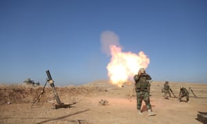 Peshmerga forces located at Mount Zardak attack Mosul with howitzers