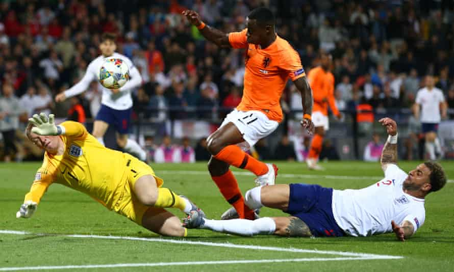 The Netherlands make it 2-1 in extra time after John Stones' careless back pass ended with Quincy Promes's shot hitting Kyle Walker for an own goal.