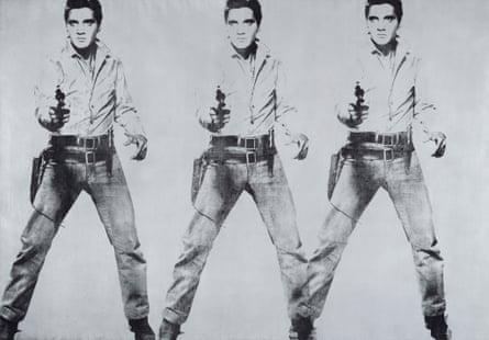 Andy Warhol's Triple Elvis (1963).