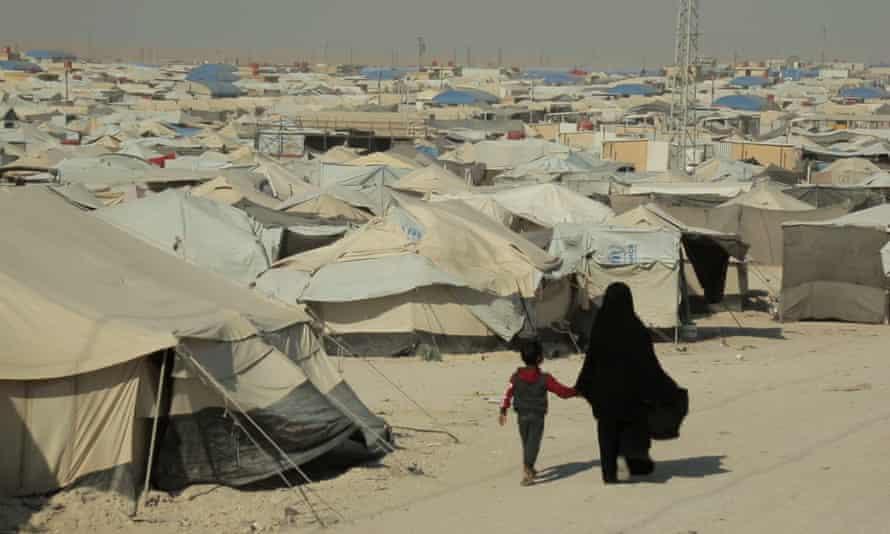 Al-Hawl refugee camp in Syria