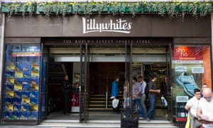 Lillywhites, one of Ashley's many sports brands.