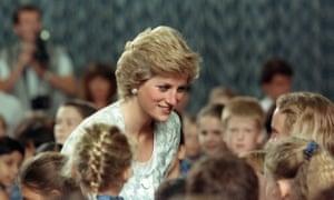 Princess Diana at an international school in Jakarta, November 1989.