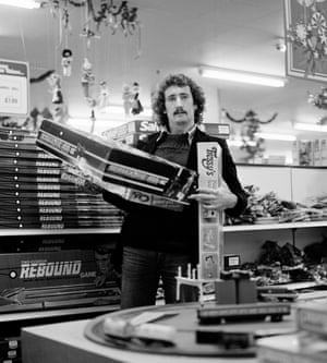 Derby County footballer Gerry Ryan does a spot of Christmas shopping in the Debenhams toy department