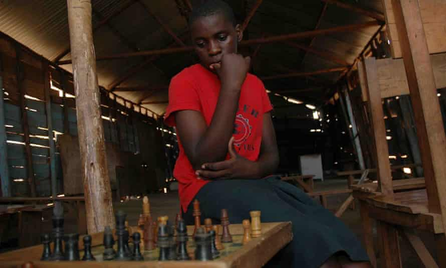 Deep in thought: Phiona Mutesi at 15.