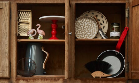 a cupboard full of gifts featured in the Cook gift guide.