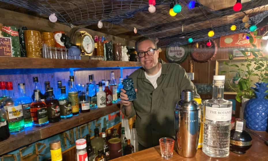 Nick Grant at his bar in Dunblane