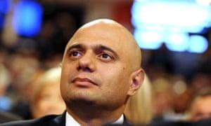 The home secretary Sajid Javid