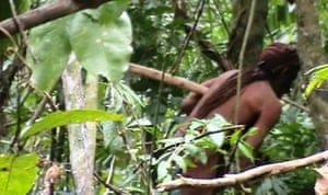 Recent image of the last known survivor of an uncontacted tribe in the Amazon state of Rondônia, spotted for first time in more than two decades