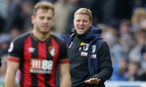 Eddie Howe (right) has seen his Bournemouth side concede more than any Premier League side outside the bottom five.