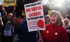 Protesters outside county hall in Northallerton where councillors approved Third Energy's application to frack for shale gas.