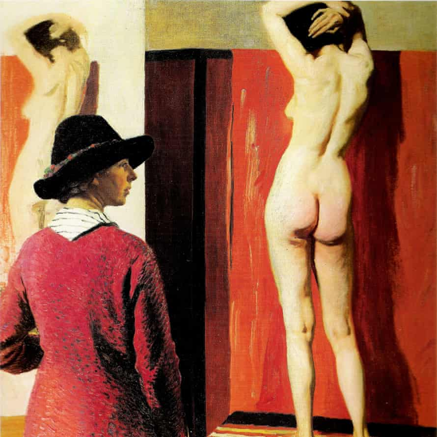 Self portrait with Nude by Laura Knight, painted in 1913.