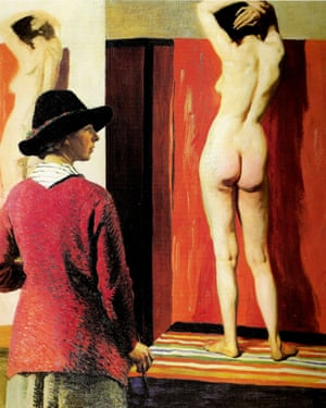 Self portrait and Nude by Laura Knight, 1913