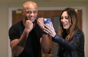 15 April 2018: Kompany celebrates in a local hotel as City win the Premier League title after Manchester United lose to West Bromwich Albion, thus handing City the title.