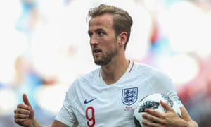 Harry Kane with the match ball after his hat-trick against Panama took him top of the World Cup scoring charts.