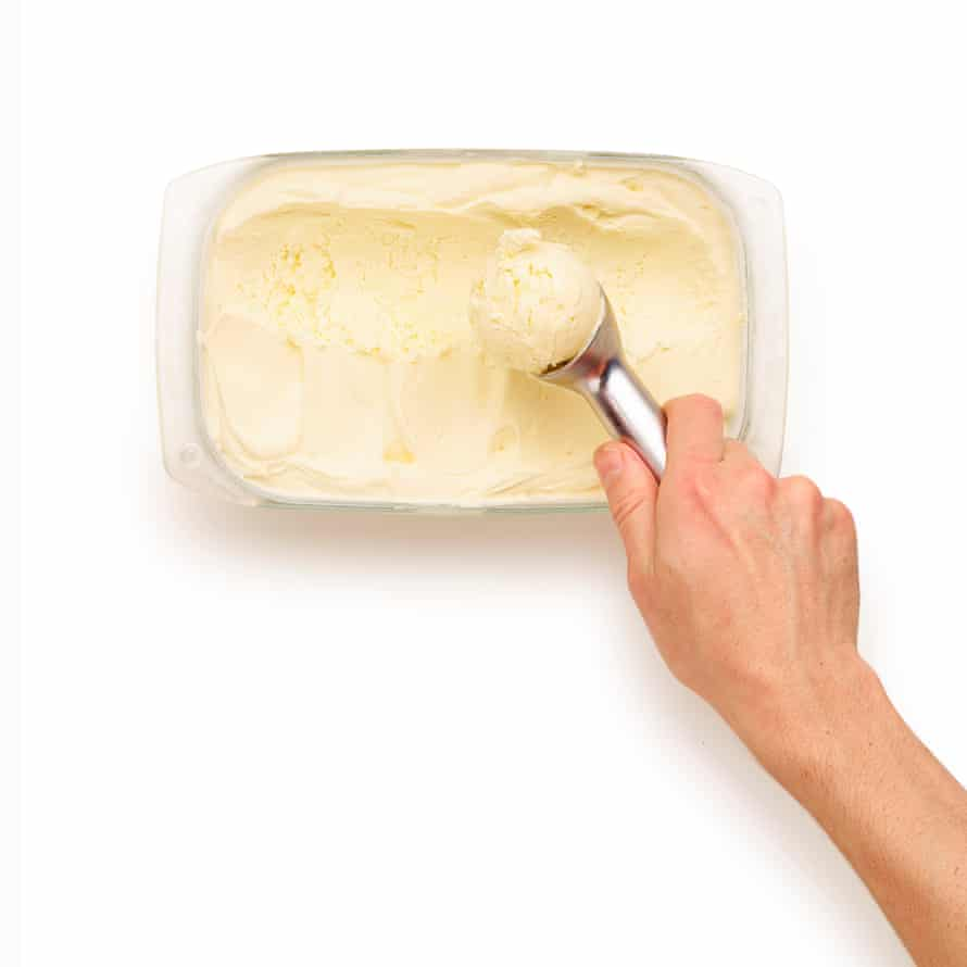 Felicity Cloake The perfect ... No-churn ice-cream: step 3 Simply spoon into a freezer-friendly tub, cover, and freeze for about six hours.