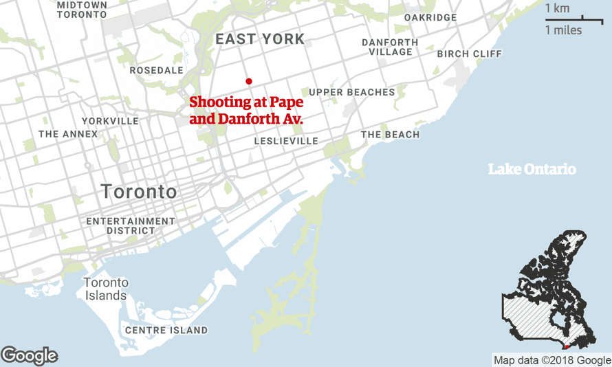 Map of the shooting