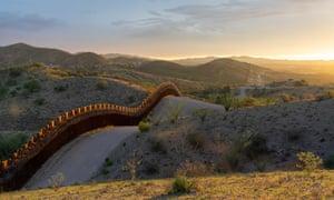 The wall near Nogales on the Arizona border