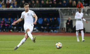 Harry Winks of England scores the opening goal.