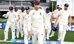 Joe Root leads his side out in Hamilton but they were unable to force a series-levelling victory