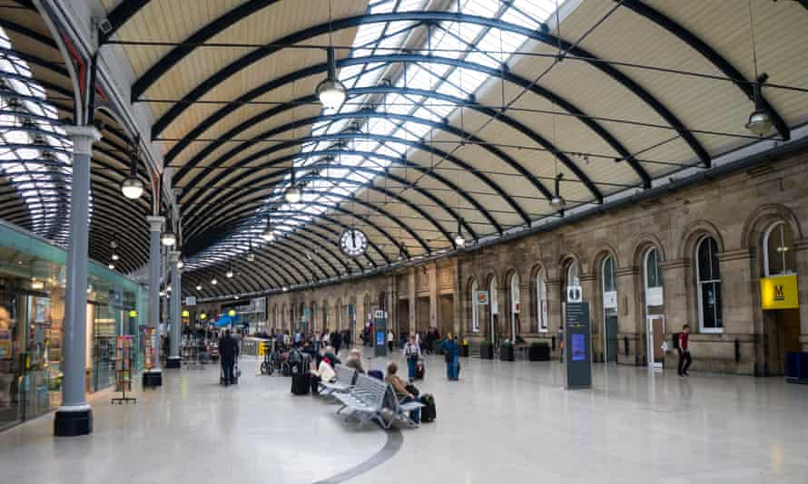 Newcastle Central station.