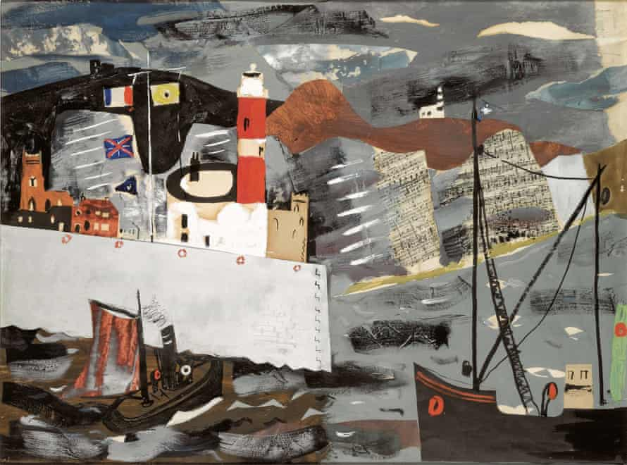 'You wonder why he bothered' … Harbour Scene, Newhaven, by John Piper.