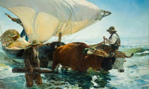 Impressions of Spain … The Return from Fishing, 1894, by Joaquín Sorolla.