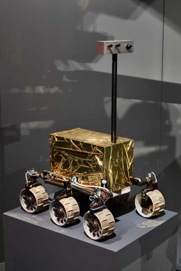 An ESA rover prototype at the Design Museum.