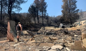 The aftermath of the Lake fire at Brittny Daskey's house.