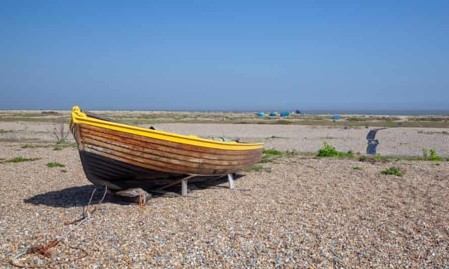 Fishing boat on Kessingland Beach in Suffolk, England