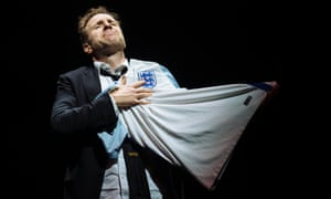 Rafe Spall as Michael in Death of England at the National's Dorfman theatre.